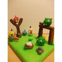 Angry Bird Adorno Para Torta En Porcelana Fria