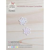 Flores En Papel Comestible Mi 4040