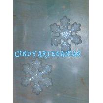 Apliques Frozen Copos De Nieve Porcelana Fria 4 Cm X 10 Unid