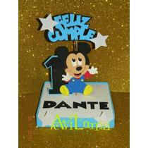 Adorno De Torta O Centro De Mesa De Mickey Y Minnie
