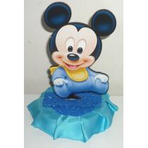 Adorno De Torta Mickey Y Minnie Bebe Y Mas