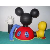 Casa De Mickey Mouse En Porcelana Fria De 35 Cm