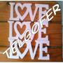 Letras Love Frases Numeros En Telgopor Blanco