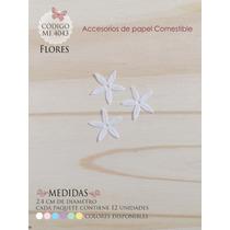 Flores En Papel Comestible Mi 4043