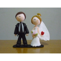 Centro De Torta Casamiento Novios Fiesta Porcelana Fría
