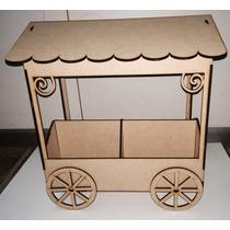 Porta Cupcakes O Caramelera Kiosko Mdf Laser