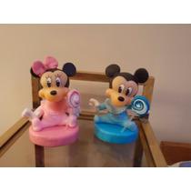 Mickey Y Minnie Adorno De Torta En Porcela Fria