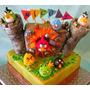 Adorno Tortas Angry Birds -unico En El Sitio!!