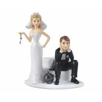 Adorno Wilton Torta Casamiento Novio Encadenado Pareja Boda