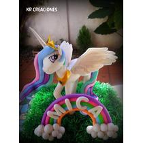 Adorno D Torta En Porcelana Princesa Celestia My Little Pony