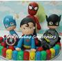 Adorno Torta Super Heroes Batman Superman Hombre Araña Airon