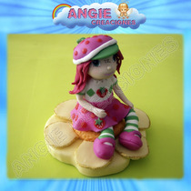 Frutillita Strawberry Shortcake Porcelana Fria Adorno Torta