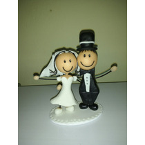 Adorno De Torta, Souvenirs Casamiento Novios Boda Porcelana