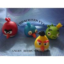 Angry Birds Souvenirs En Porcelana Fria