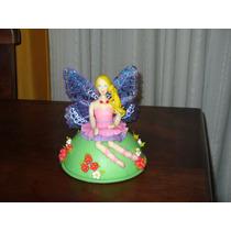 Barbie Hada Adorno De Torta En Porcelana Fria