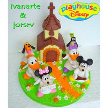 Adorno Para Torta Bautismo Play House Disney Mickey Y Amigos