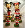 Central Mickey -minnie En Porcelana Fria
