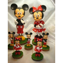 Central Mickey -minnie En Porcelana Fria