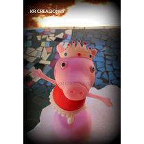 Adorno De Torta En Porcelana Fría Peppa Pig Bailarina