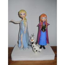 Frozen (anna, Elsa Y Olaf) Personajes En Porcelana Fria.
