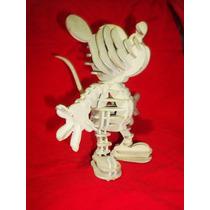 Mickey Mouse En 3d Para Armar, Candy