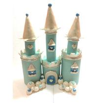 Castillo De Frozen En Porcelana Fría