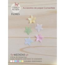 Flores En Papel Comestible Mi 4056