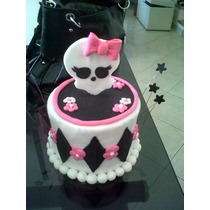 Adorno De Falsa Torta 18 Diametro Y Logo De Monster High