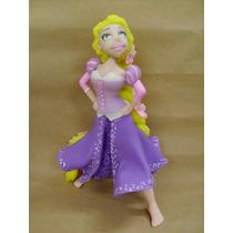 Adorno Para Torta En Porcelana Fría Princesa Rapunzel