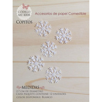 Copos De Nieve En Papel Comestible Mi 4008