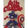 Adorno De Torta Capitán América Goma Eva
