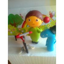 Charlie Y Numero + Triciclo - Baby Tv - Adorno Para Tu Torta