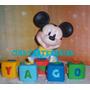 Adorno De Torta Disney Mickey O Minnie Baby Porcelana Fria