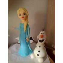 Adorno Frozen: Elsa O Anna Con Olaf