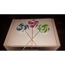 Adorno Pinche Paleta Porcelana Para Torta