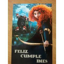 Cartel Bienvenida Poster Personalizado Merida Valiente Brave