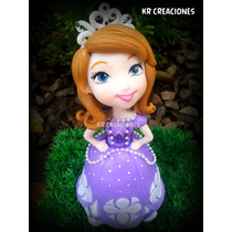 Adorno De Torta En Porcelana Fría Princesita Sofia