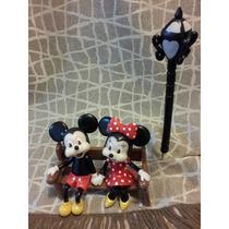 Adorno Mickey Y Minnie En Porcelana Fria
