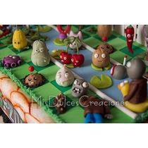 Adorno Para Torta Plantas Vs. Zombies Porcelana Fría