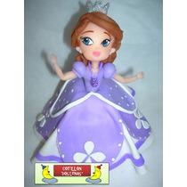 Princesa Sofia Disney Porcelana Fria Adorno Torta Princesas