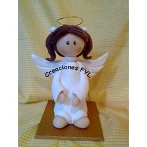 Angel Central De Comunion, Bautismo En Porcelana Fria