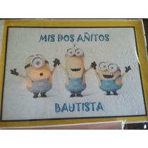 Lamina Comestible Para Tortas Y Cupcakes Minions