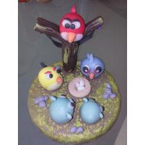 Angry Birds Adorno Para Torta