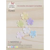 Flores En Papel Comestible Mi 4046
