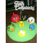 Adorno Para Tortas Angry Birds Porcelana Fría
