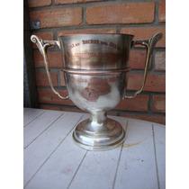 Antiguo Trofeo-copa De Bronce 1949 Liga De Bochas