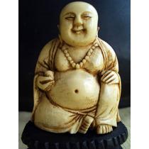 Buda Figura De Bone Ox Chino Japones Oriental Simil Marfil
