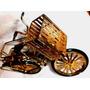 Antigua Bicicleta Fosforera-porta Palillos Vitrina Arbolito