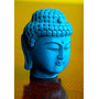 Antigua Cabeza De Buda Color Turquesa