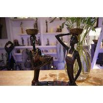 Figura Africana Decorativa Femenina